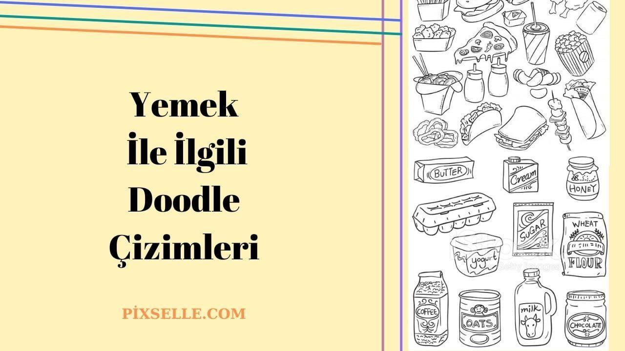 yemek-ile-ilgili-doodle-çizimleri